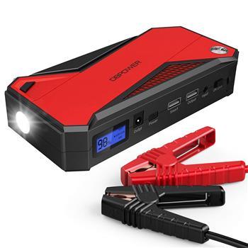 DBPOWER DJS50 800A 18000 毫安汽车应急电源 (红黑) US 内置锂电池(该产品在亚马逊平台存在侵权风险)
