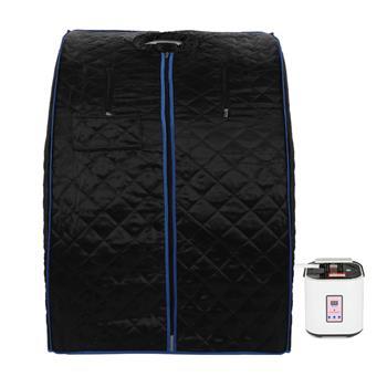【DD】蒸汽式桑拿房汗蒸箱  黑色(黑色布套,蓝色包边)
