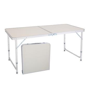 家居用品铝合金折叠桌无伞孔120*60*70