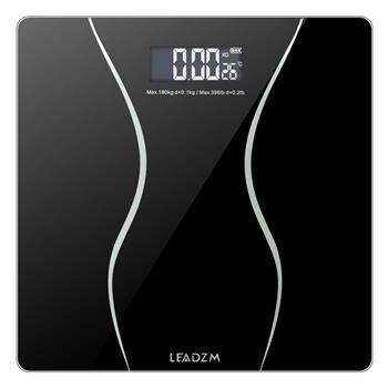 LEADZM新小蛮腰180Kg/0.1kg 6mm厚度28*28厘米LB/KG单位切换体重秤黑色(同39339005,可替代发货 )