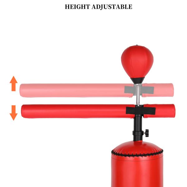 170*30*30cm PU皮革 ABS吹塑 N001 红色 带旋转轴 速度球 2-1 拳击沙袋