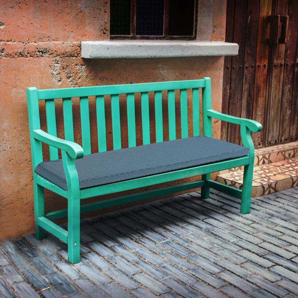 109*45*7cm 蓝色 长椅坐垫 长方形 N001 带绑带