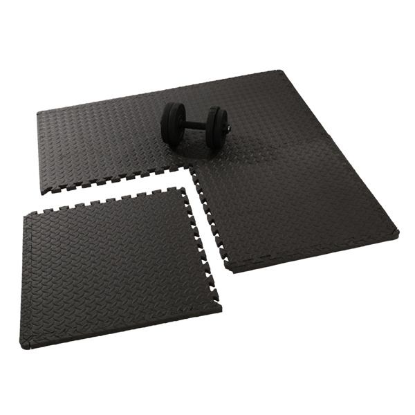FCH 18pcs EVA 30*30*1cm 健身垫 S001 黑色