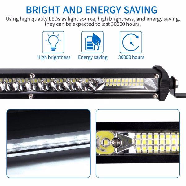 Car Ultra-Thin Single-Row LED Light Bar