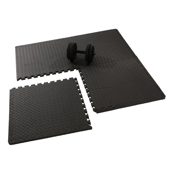 FCH 12pcs EVA 60*60*1cm 健身垫 S001 黑色