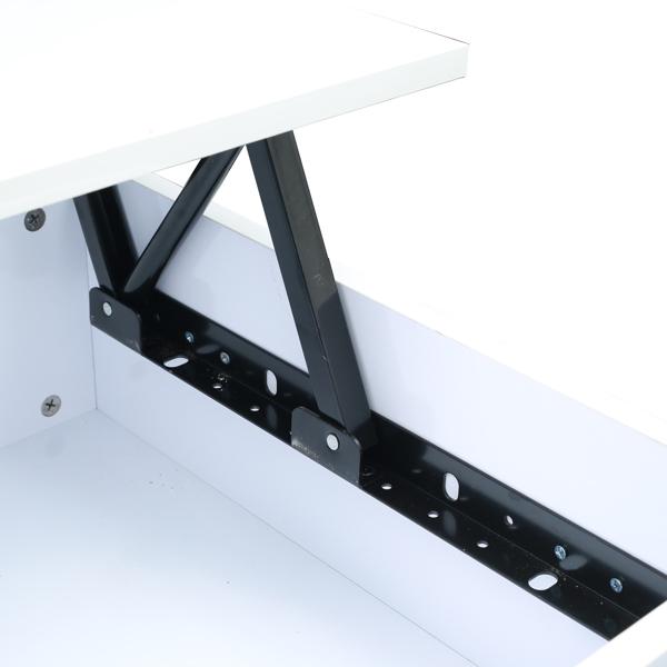 Function Home 现代升降顶咖啡桌,带抽屉和隐藏隔间的现代储物咖啡桌,升降顶鸡尾酒桌,带木制升降桌面的中央桌子,白色