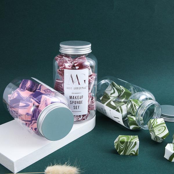 MG抹茶白大理石纹粉扑12个装 抹茶绿(亚马逊禁售)