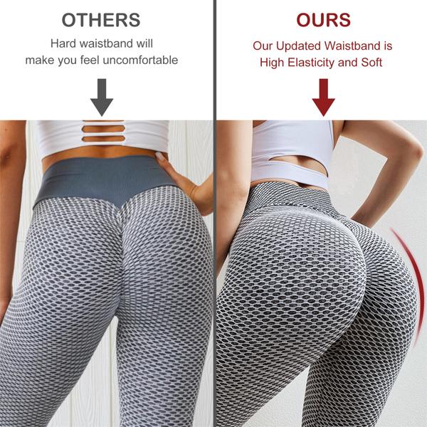 tiktok抖音女士紧身裤提臀运动锻炼高腰瑜伽裤口袋灰XXL码