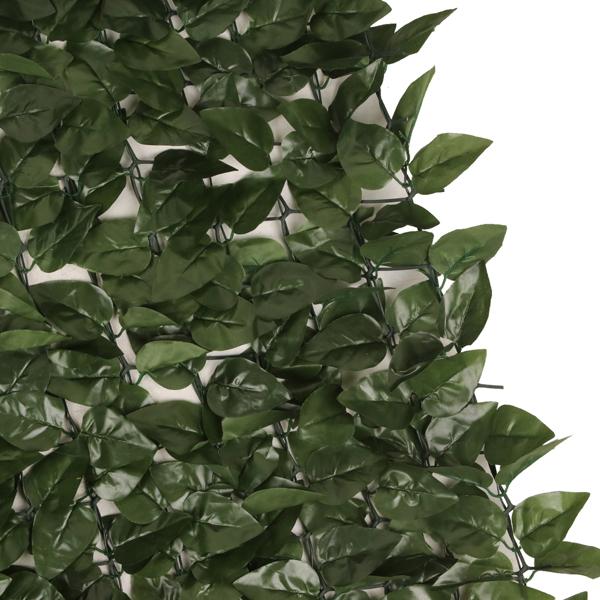 1*3m 桃叶篱笆 (952片叶子) 绿色 塑料 庭院栅栏网 长方形 欧洲