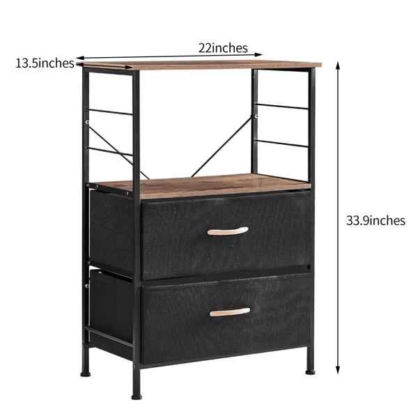 2抽黑色收纳柜床头柜(原SKU:73362759)