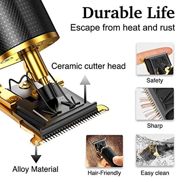 专业男士理发器胡须修剪器理发师理发套件USB充电式