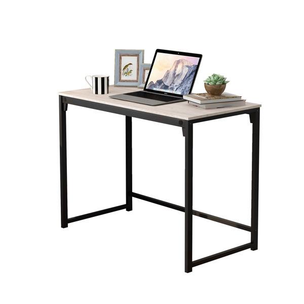 简约风格电脑桌-浅白色