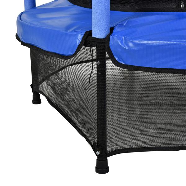 FCH 55in 蓝色护杆 蓝色外罩 S001 直脚迷你圆形内网 蹦床