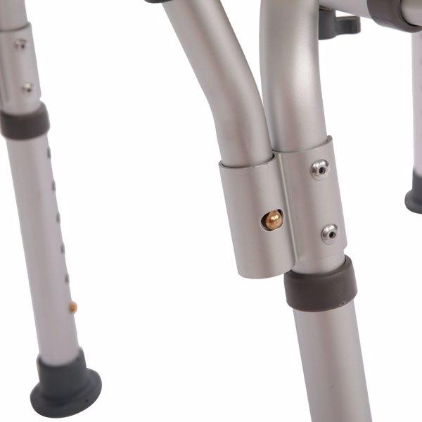 PE吹塑板铝管 带靠背扶手 白色 洗澡椅 CST-3052