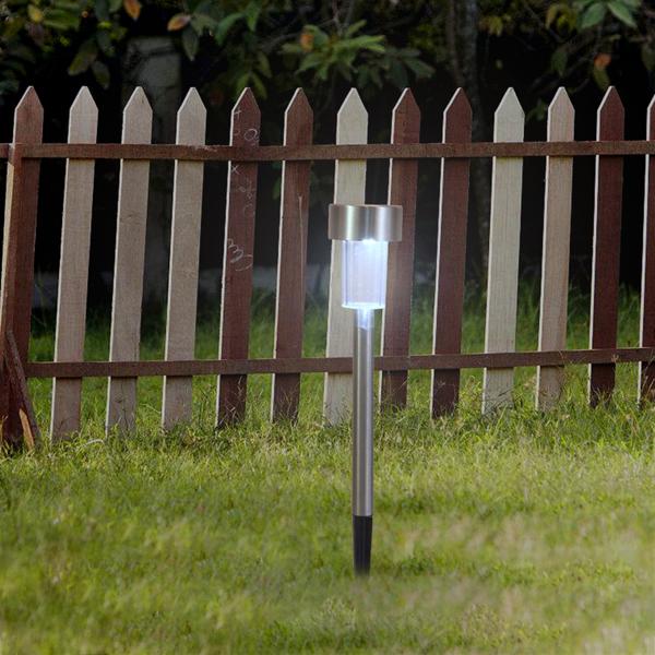 10pcs 高亮白光 草坪灯 带灯泡 37*5*5cm 塑料/不锈钢 1.2V 18mA 小管灯 欧洲