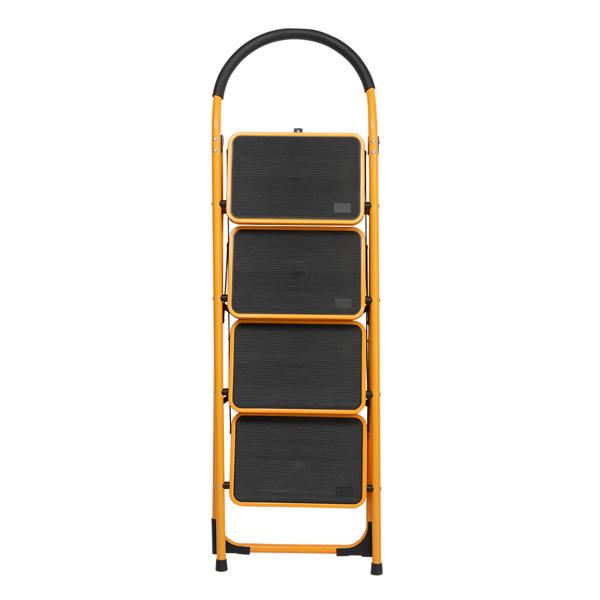 铁制 4踏步 圆弧 踏步梯 姜黄色