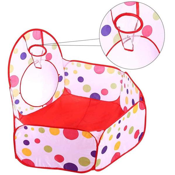 带隧道的儿童帐篷、男孩女孩、婴儿和幼儿室内和室外球坑剧场