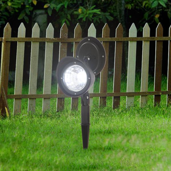 FCH 2pcs 黑色 草坪灯 30*10*5cm 塑料 带灯泡 2V 100mA 庭院 欧洲