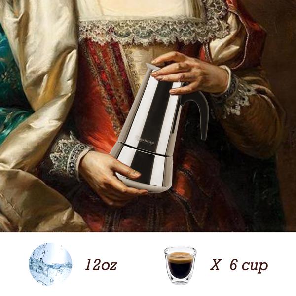 不锈钢摩卡壶6杯套装礼盒咖啡壶 亚马逊禁售