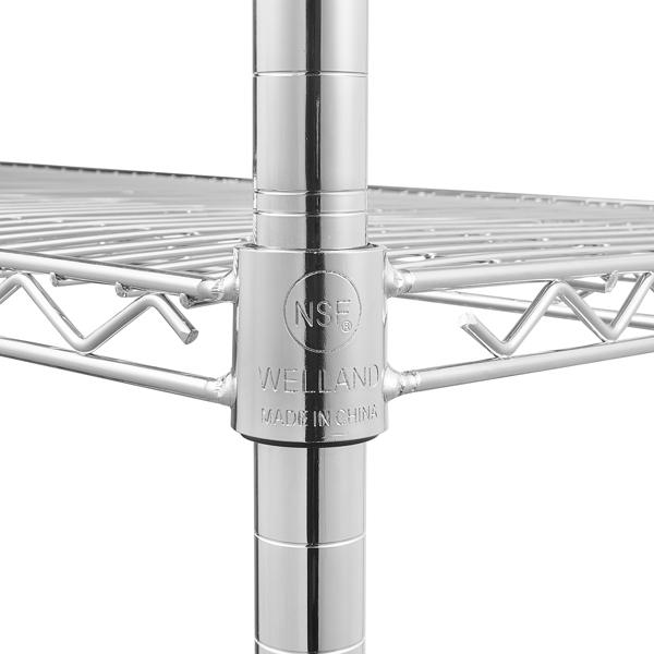 WELLAND 55*45*180cm 5层电镀 铁 可自由调节层间距 银色 家用金属层架 N001