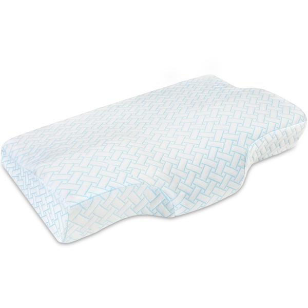 PON 记忆棉504451蓝色条纹蝶形枕(大号)65*40*7/11cm(亚马逊禁售)