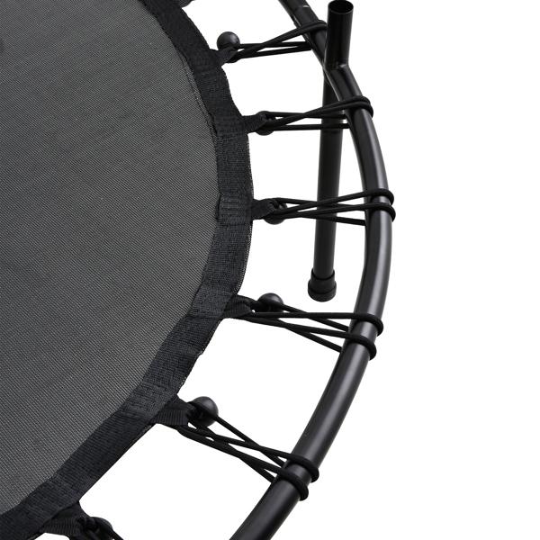 FCH 55in 粉黑护杆 红色外罩 S001 直脚迷你 圆形内网 蹦床
