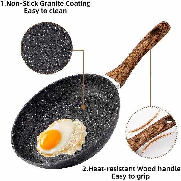 厨房煎锅炒锅煎鸡蛋锅压铸麦饭石