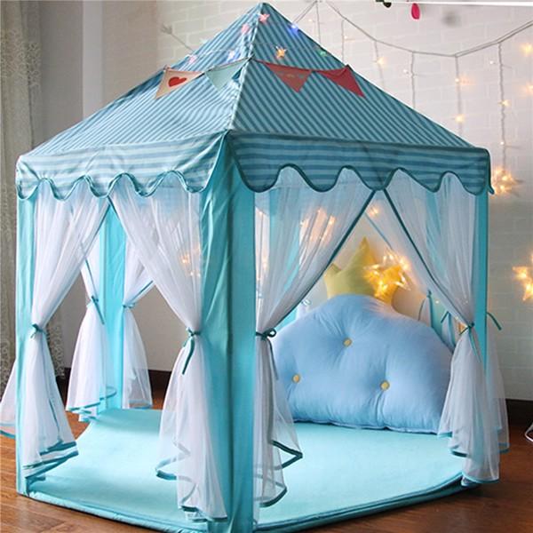 便携式折叠公主城堡帐篷儿童儿童滑稽游戏童话屋儿童游戏帐篷带多色灯