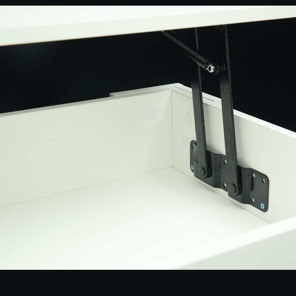 带隐藏隔间和储物架的咖啡桌,客厅接待室的上升桌面
