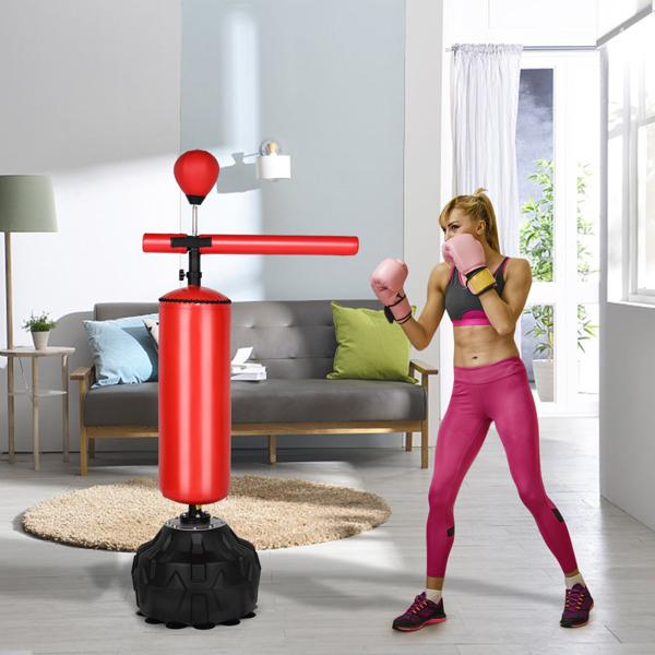170*30*30cm PU皮革 ABS吹塑 N001 红色 带旋转轴 速度球 2-2 拳击沙袋