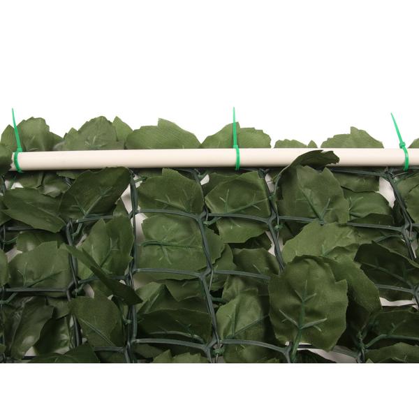 1*3m 绿色 塑料 庭院栅栏网 长方形 枫叶篱笆(952片叶子) 欧洲
