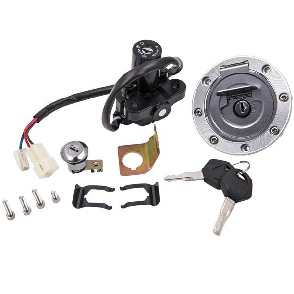 点火开关气帽座椅锁组件Ignition Switch Seat Gas Cap Lock Key Set For Yamaha YZF R1 R6 1992-2013