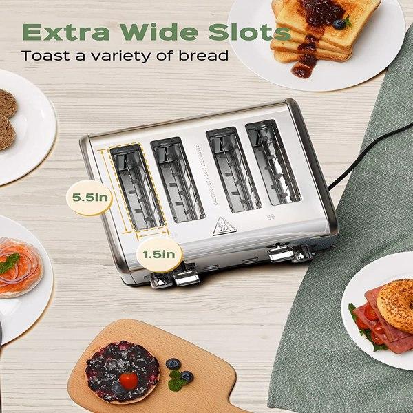 4槽4片LCD显示屏 多士炉面包机(亚马逊禁售)