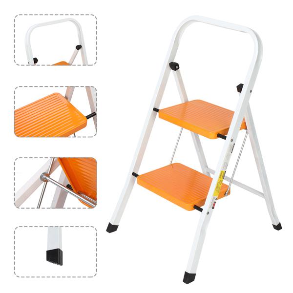 铁制 2踏步 方管 踏步梯 姜黄色