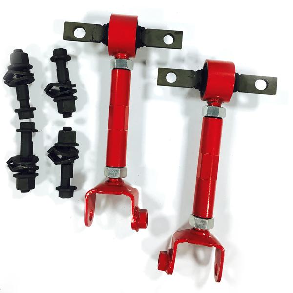 4 可调凸轮螺栓套件 +2 弯形调整臂 for RED RSX DC5 CIVIC SI EP3 K20 FRONT BOLT