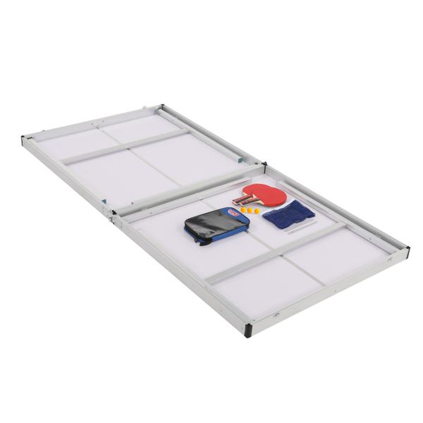 183*91*76cm N001 红色 可折叠 乒乓球桌