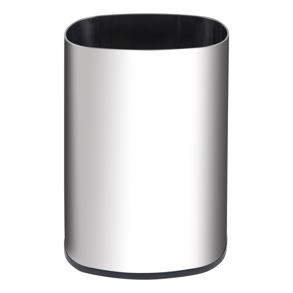 E150 48L 智能垃圾桶 3.00W 椭圆形 带普通镜面桶身 带4个轮子(赠品) 不锈钢 ABS材质 防水 灰桶黑盖 感应式全自动