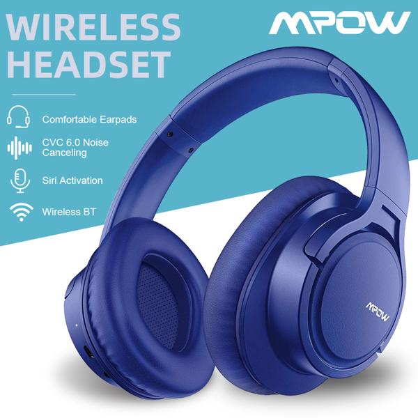 162A换络达方案的蓝牙头戴/ Mpow H7/ AB1531/电池 420mah 带绒布袋 /蓝色素材版本 (亚马逊禁售)