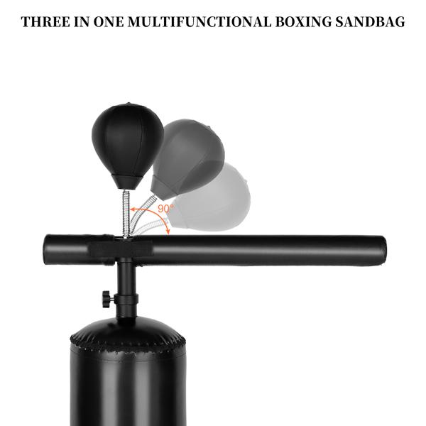 170*30*30cm PU皮革 ABS吹塑 N001 黑色 带旋转轴 速度球 2-1 拳击沙袋