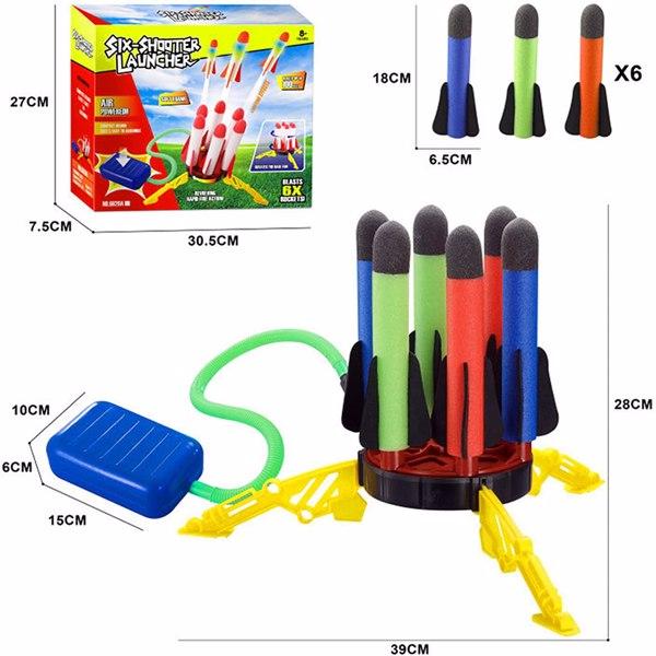 【沃尔玛禁售】火箭跳跃玩具 Rocket Launcher Toy for Kids - 6 Rockets Continuous Jump Air Rocket Launch Great for Outdoor Play
