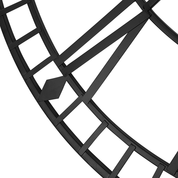 80cm罗马挂钟古黑色 升级