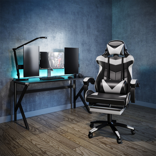 竞技椅(黑+白)