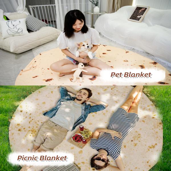煎饼毯子床上沙发空调创意毛毯