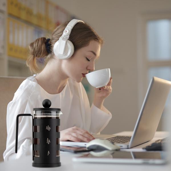 法压壶350ml/12oz黑色不锈钢咖啡壶意式咖啡 亚马逊禁售