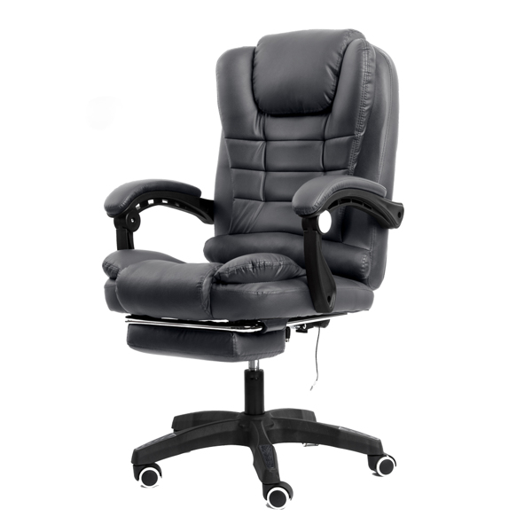 办公椅带按摩深灰色