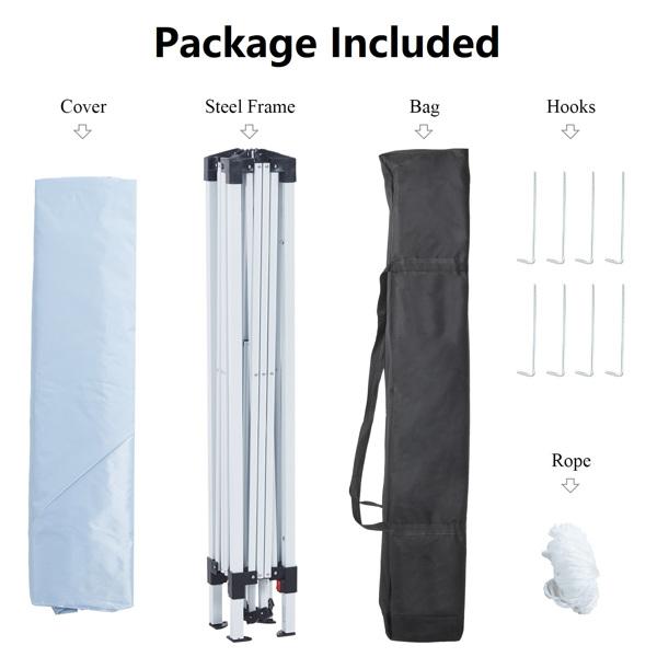 2x2M 弹出式速开凉棚 帐篷 210D 带防水涂层 + 收纳袋 白色