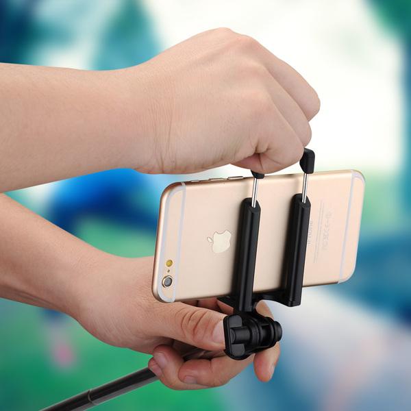 【亚马逊禁售】自拍杆蓝牙、带内置蓝牙遥控快门的 iSnap X 可扩展独脚架适用于 iPhone 8/7/7P/6s/6P/5S、Galaxy S5/S6/S7/S8、谷歌、LG V20、华为等(黑色)