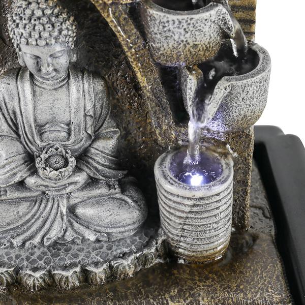 10.6英寸LED灯坐佛喷泉(亚马逊禁售)
