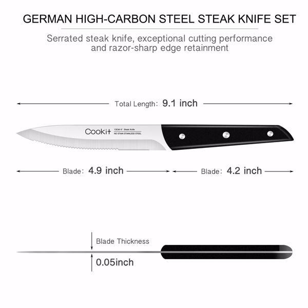 牛扒刀8件套ABS手柄不锈钢锯齿牛排刀家用晚餐刀礼盒装
