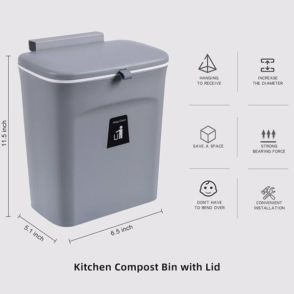 深灰色垃圾桶 【沃尔玛禁售】